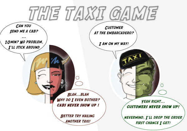 comic strip: the taxi game